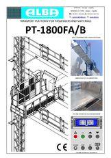 neue PT ALBA 1800FA/B Hängebühne